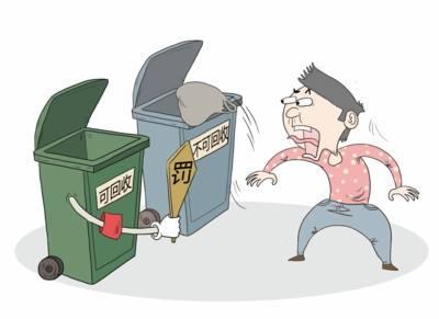 垃圾分类罚款海报