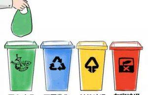 四种环保垃圾桶的颜色