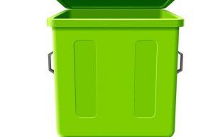 厨余垃圾绿色垃圾桶