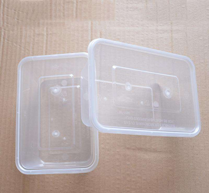 饭店的一次性塑料餐盒