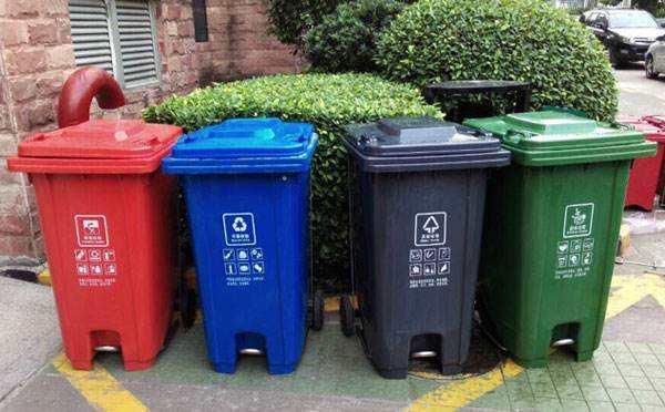 天津垃圾分类街道环保垃圾桶