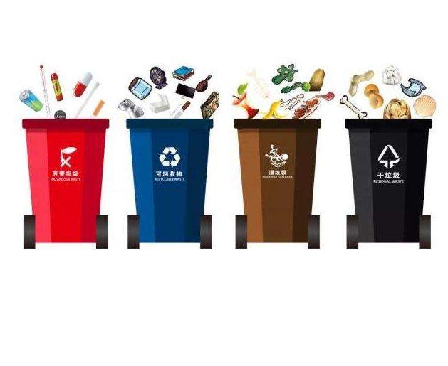 上海垃圾分类桶颜色标准