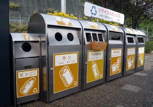 为北京留学生设的垃圾分类桶