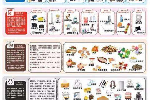 最全的上海干湿垃圾分类明细表,上海生活垃圾分类投放指南