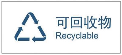 2019新修订的《生活垃圾分类标志》标准,可回收物标志