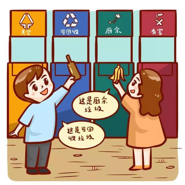 广州的垃圾箱有四种颜色