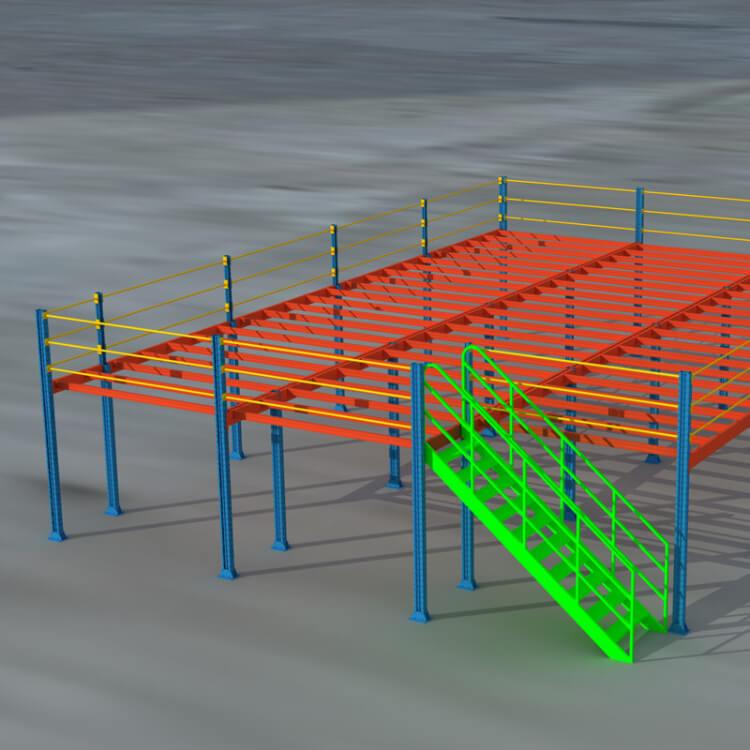 钢结构平台货架设计图