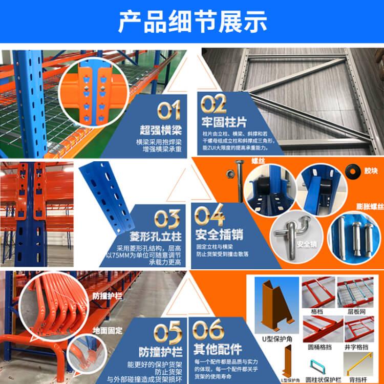 重型货架结构细节展示
