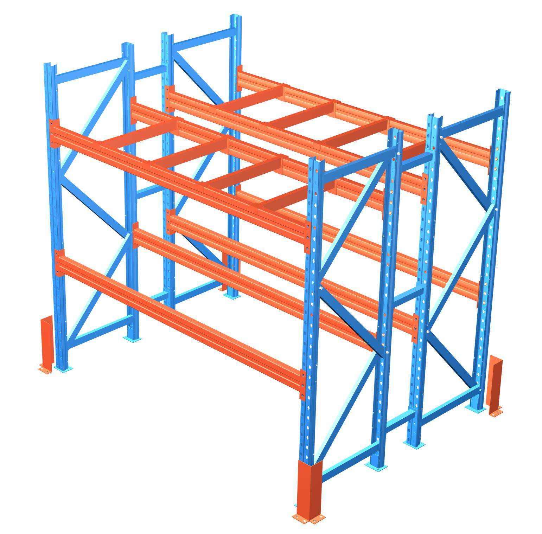中型层板组合货架结构